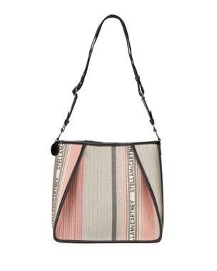 d9042462689a0 Stella McCartney Large Logo Patchwork Crossbody Bag