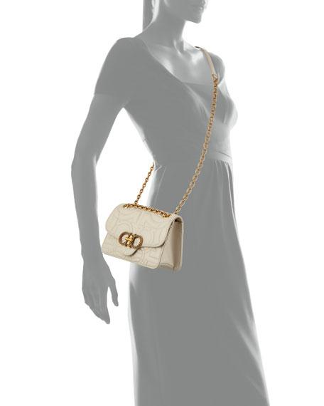Salvatore Ferragamo Gancini Quilted Leather Shoulder Bag