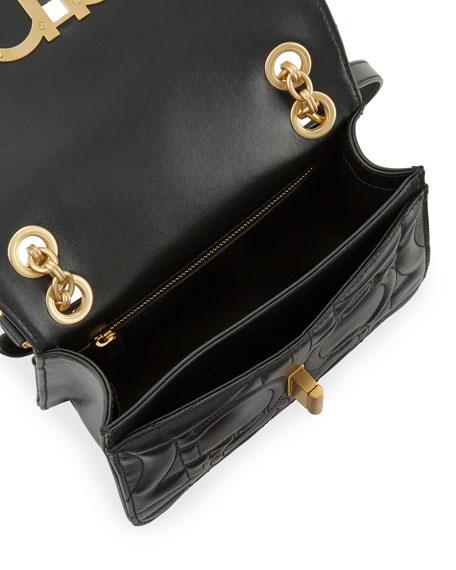Salvatore Ferragamo Gancio Quilted Shoulder Bag