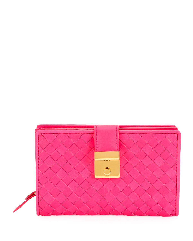 95b06a364c794c Bottega Veneta Intrecciato Flap Wallet | Neiman Marcus