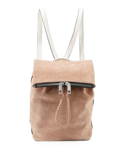Loner Calf Suede Drawstring Backpack