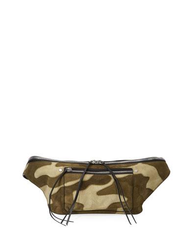 Elliot Suede Fanny Pack Belt Bag  Camo