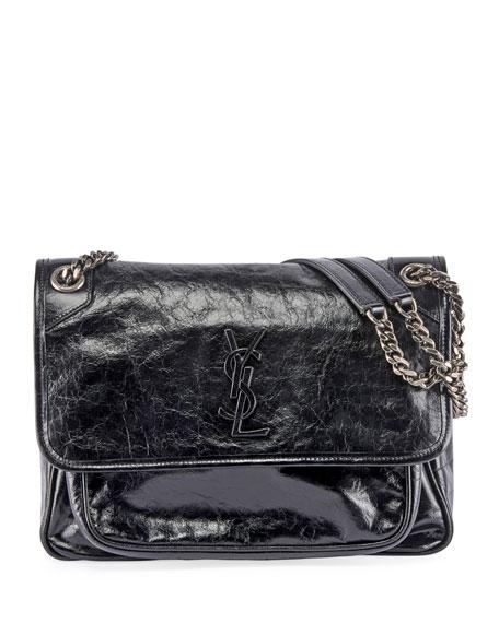 Saint Laurent Niki Medium Monogram Ysl Shiny Leather