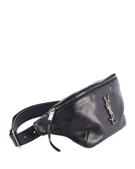 Saint Laurent YSL Monogram Curved Zip-Top Belt Bag