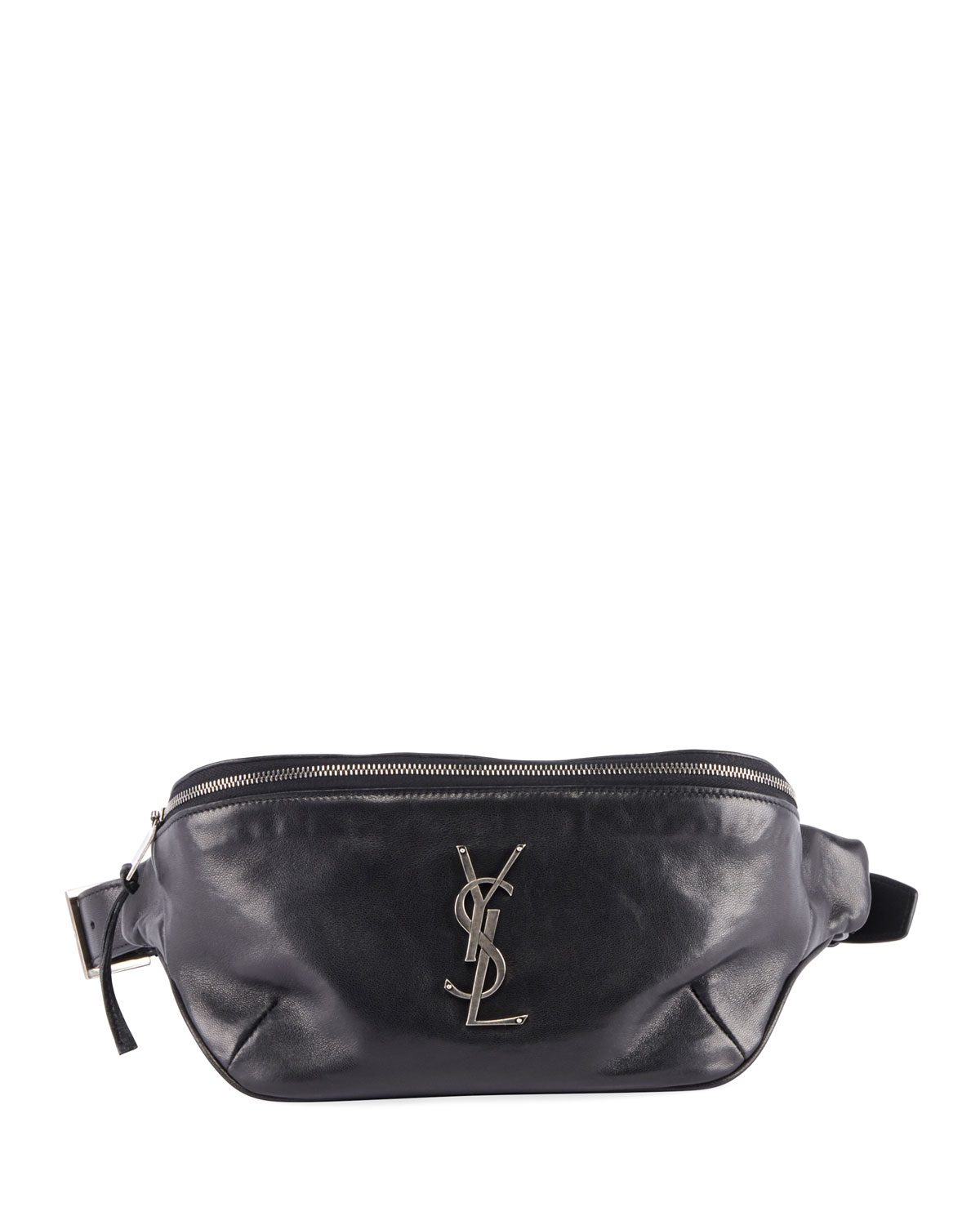 364f29cae81 Saint Laurent YSL Monogram Curved Zip-Top Belt Bag | Neiman Marcus