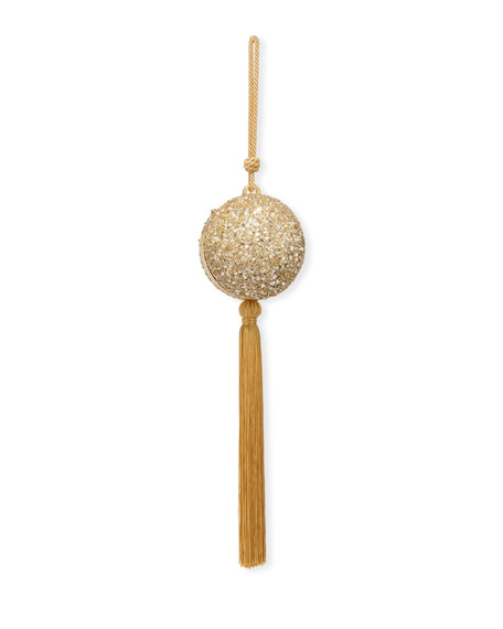 Oscar de la Renta Billiard Sequined Tassel Clutch Bag