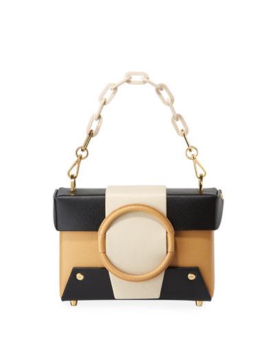 Asher Colorblock Leather Shoulder Bag