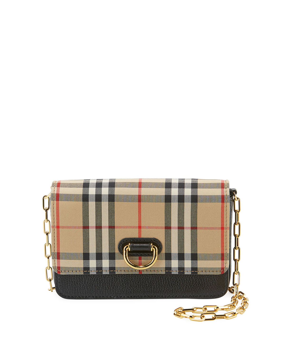 ec9a5348811c Burberry Hayes D-Ring Check Crossbody Bag