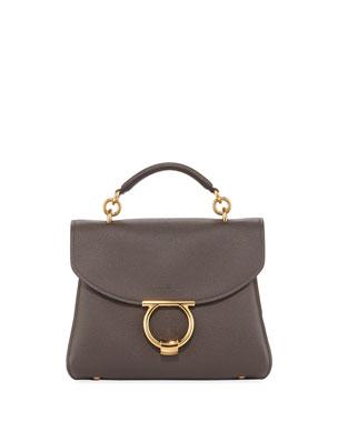 783a8e29971 Salvatore Ferragamo Margot Medium Leather Shoulder Bag