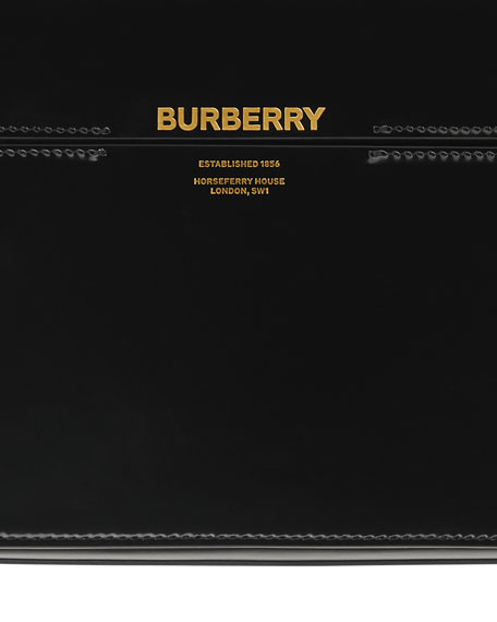 Burberry Horse Ferry Patent Shoulder Bag