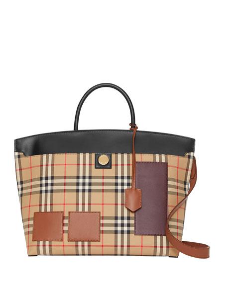 Burberry Society Medium Check Tote Bag