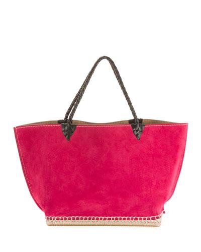Small Espadrille Tote Bag  Dark Pink