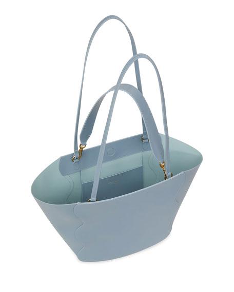 Mansur Gavriel Calf Leather Ocean Tote Bag