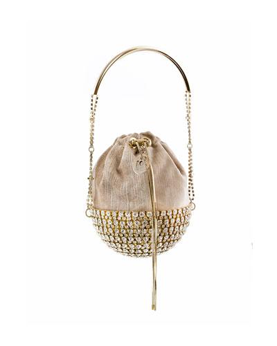 Kingham Half Moon Velvet Minaudiere Bag