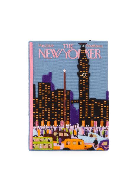Olympia Le-Tan NEW YORKER SKYLINE BOOK CLUTCH BAG