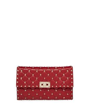 585a4283e Valentino Garavani Quilted Rockstud Spike Chain Shoulder Bag