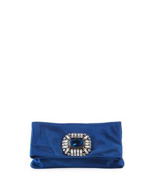 04131dfaca74 Jimmy Choo Titania Jeweled Satin Clutch Bag