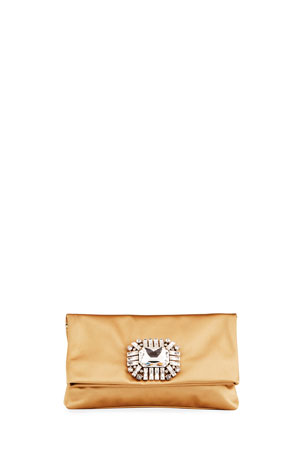 Jimmy Choo Titania Satin Clutch Bag