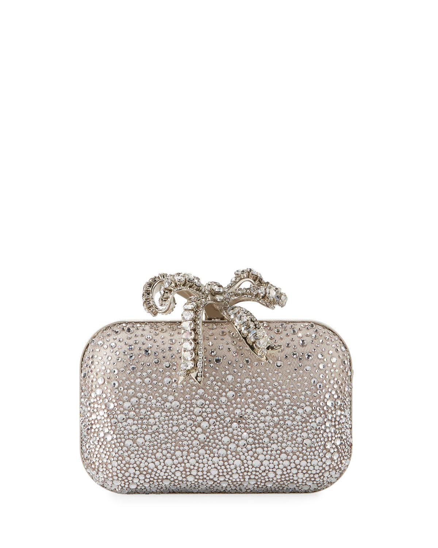 a418ba028f2 Jimmy Choo Cloud Crystal Bow Clutch Bag | Neiman Marcus