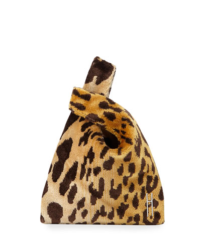 Mini Shopper Leopard Brocade Bag