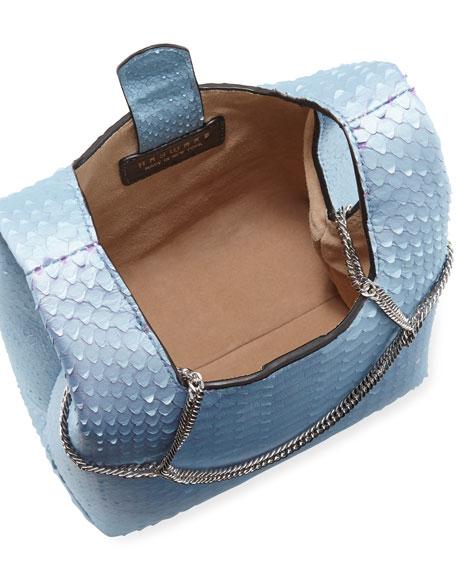 Hayward Mini Chain Python Clutch Bag - Silvertone Hardware