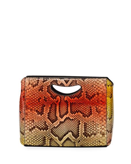 Hayward 1712 Basket Python Clutch Bag