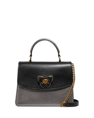 Parker Butterfly Metallic Top Handle Bag