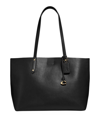 Refined Calf Leather Tote Bag