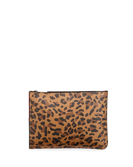 Christian Louboutin Loubipochette Leopard Small Clutch Bag