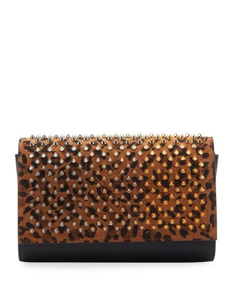 Christian Louboutin Paloma Spike Leopard Clutch Bag