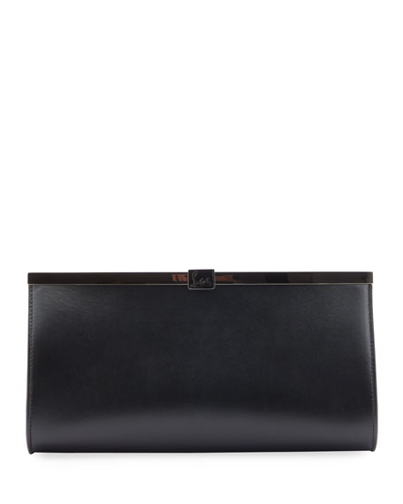 Christian Louboutin Palmette Smooth Leather Clutch Bag