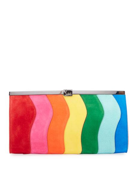 Christian Louboutin Palmette Rainbow Clutch Bag