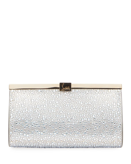 Christian Louboutin Palmette Embellished Clutch Bag