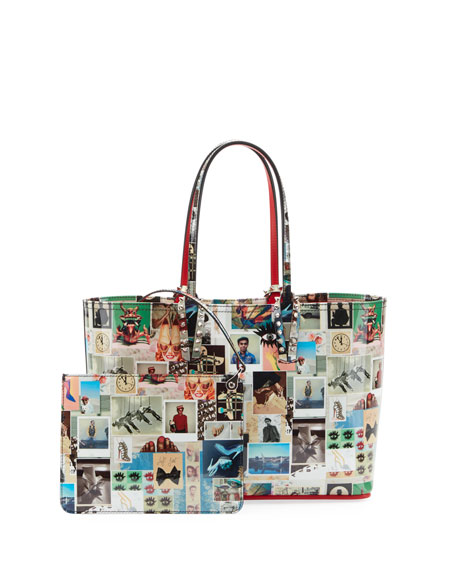 Christian Louboutin Cabata Small Patent Collage Tote Bag