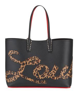 ab0ca6f7e1a7 Christian Louboutin Cabata Empire Logo Rio Leopard-Print Tote Bag