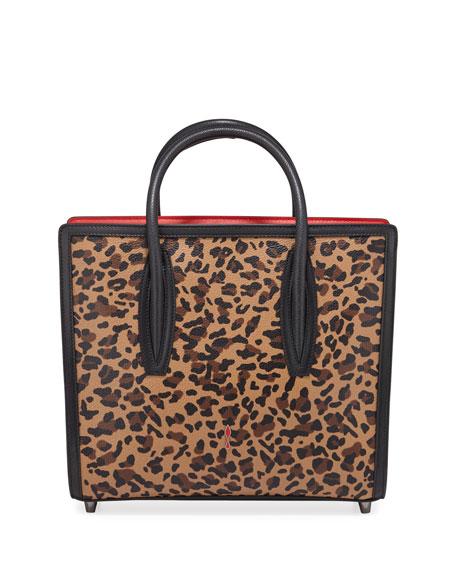 Christian Louboutin Paloma Medium Calf Rio Leopard Tote Bag