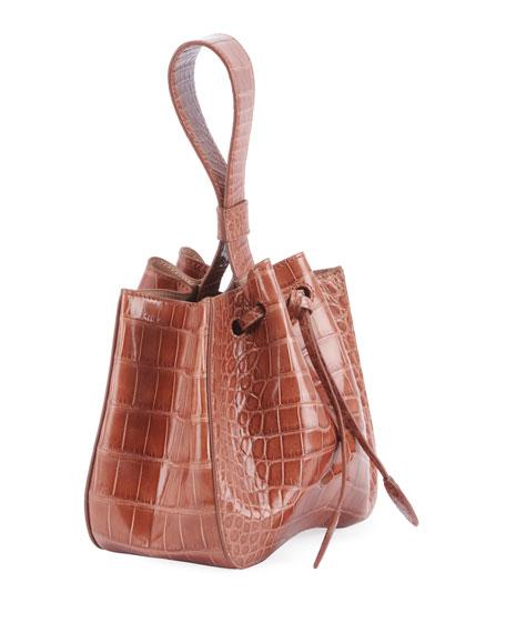ALAIA Rose Marie Alligator Bucket Bag