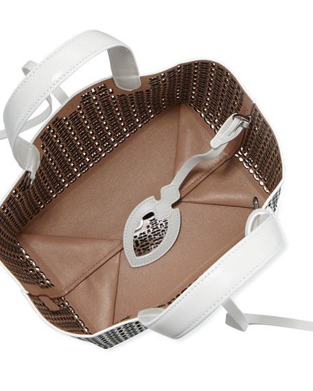 ALAIA Frida Mini Laser-Cut Tote Bag