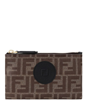 2be0f92ca308 Fendi FF Fabric Medium Wallet