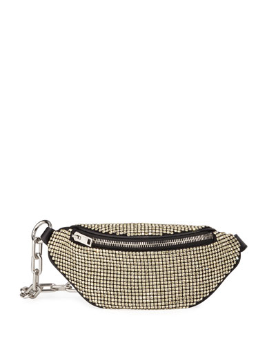 Attica Rhinestone Soft Mini Belt Bag