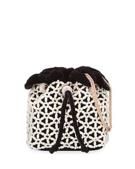 Sophia Webster Emmie Velvet Drawstring Bag