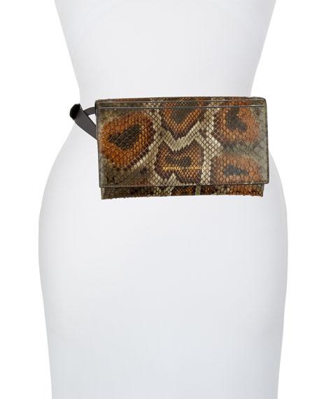 Brunello Cucinelli Python Convertible Crossbody Bag