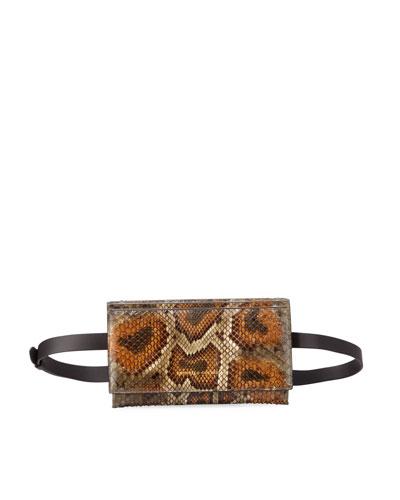Python Convertible Crossbody Bag
