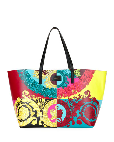 Voyage Barocco Leather Tote Bag