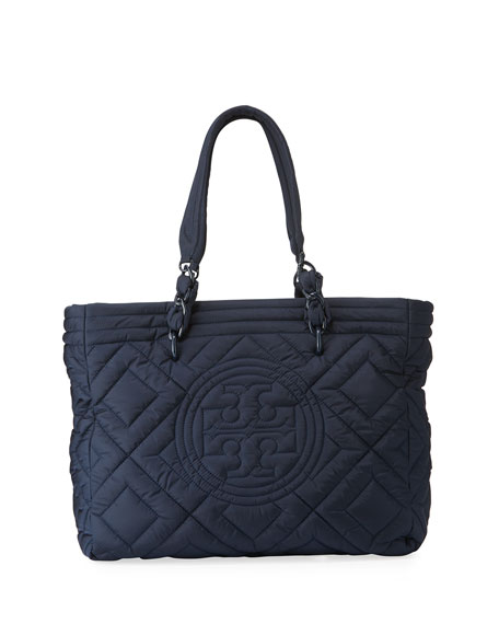 f9a29a7e58 Tory Burch Fleming Quilted Nylon Large Tote Bag | Neiman Marcus