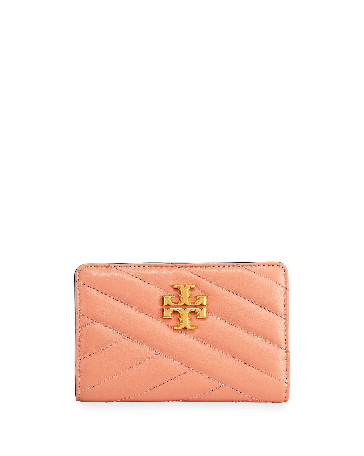 Kira Medium Slim Quilted Leather Wallet by Tory Burch