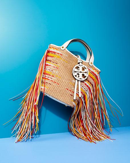 Tory Burch Miller Mini Fringe Bucket Bag