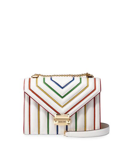 Whitney Large Rainbow Striped Shoulder Bag