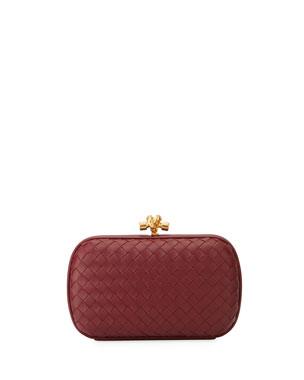 e605456312 Bottega Veneta Medium Napa Chain Knot Clutch Bag