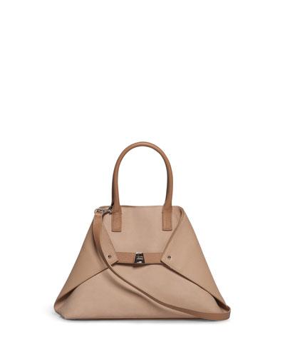 Al Small Nubuck Top Handle Bag